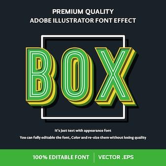 Simple box 3d eenvoudig bewerkbaar lettertype-effect