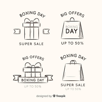 Simple boxing day stickers collectie
