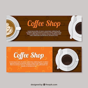 Simple cafetaria banners