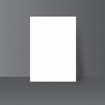Simple plain white paper mock up