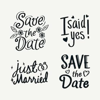 Simplistisch sparen de datum belettering