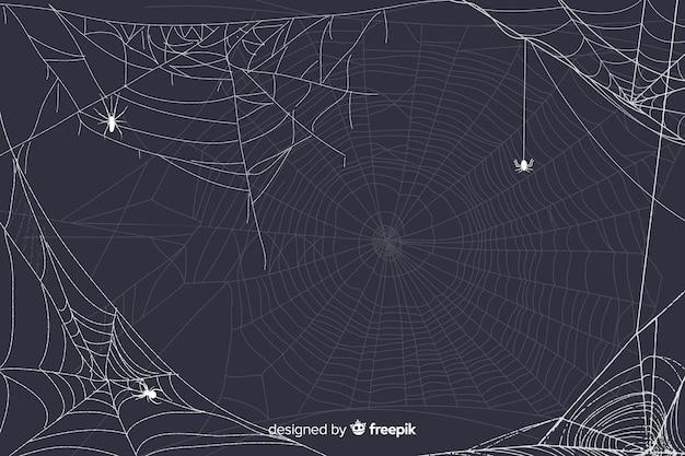Simplistische halloween-spinnewebachtergrond