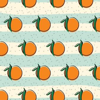 Sinaasappelen fruit patroon achtergrond