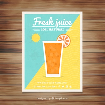 Sinaasappelsap abstract flyer
