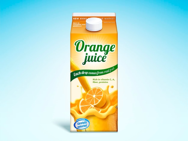 Sinaasappelsap drankkarton