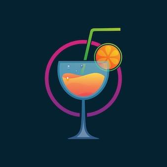 Sinaasappelsap drinken