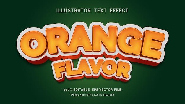 Sinaasappelsmaak bewerkbare teksteffectstijl