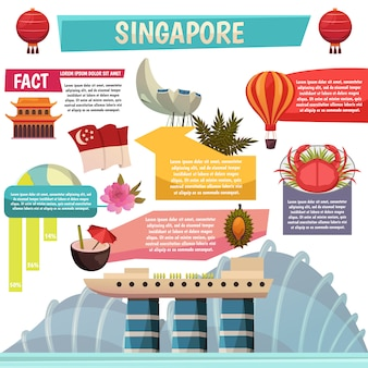 Singapore feiten infographic orthogonaal