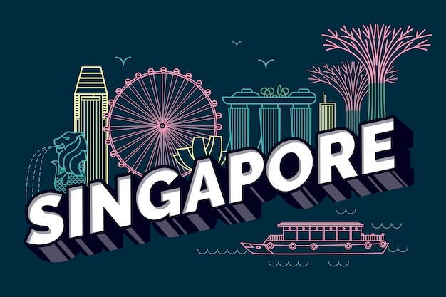 Singapore stad belettering