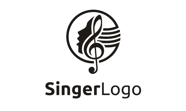 Singer / choir logo ontwerp
