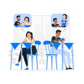 Singles concept illustratie