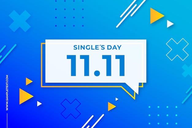 Singles day achtergrond in de stijl van memphis