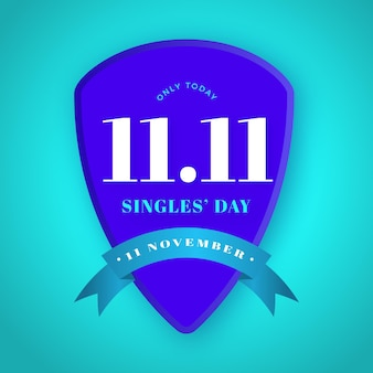 Singles day badge concept