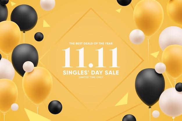 Singles day concept met ballonnen
