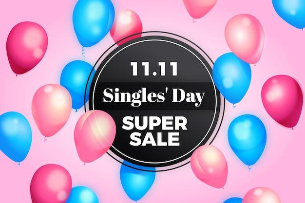 Singles 'day met realistische ballonnen