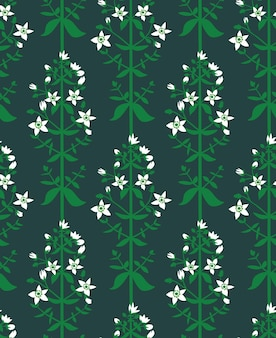 Sint-janskruid bloemen naadloos patroon op groene achtergrond