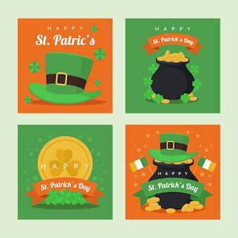 Sint patrick's instagram-postverzameling