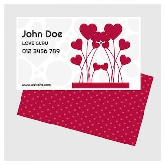 Sint-valentijn kaart sjabloon