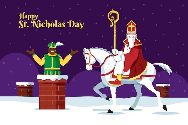 Sinterklaas dag achtergrond