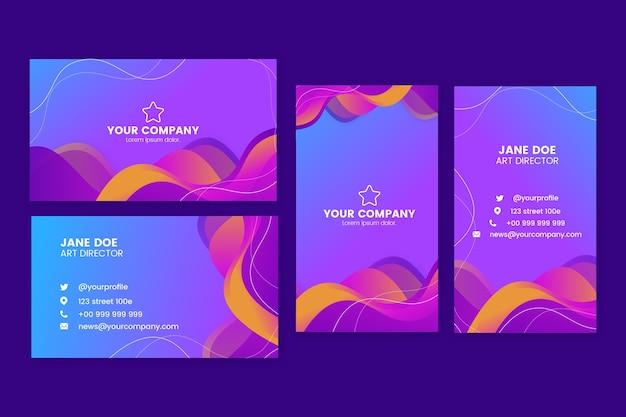 Sjablonen voor abstract kleurrijke visitekaartjes
