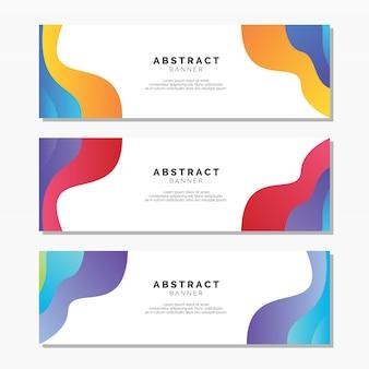 Sjablonen voor abstracte banners