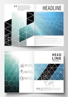 Sjablonen voor bi-fold brochure, tijdschrift, flyer of rapport.