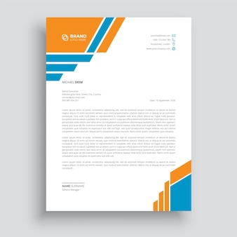 Sjablonen voor briefhoofden in zakelijke stijl voor uw projectontwerp