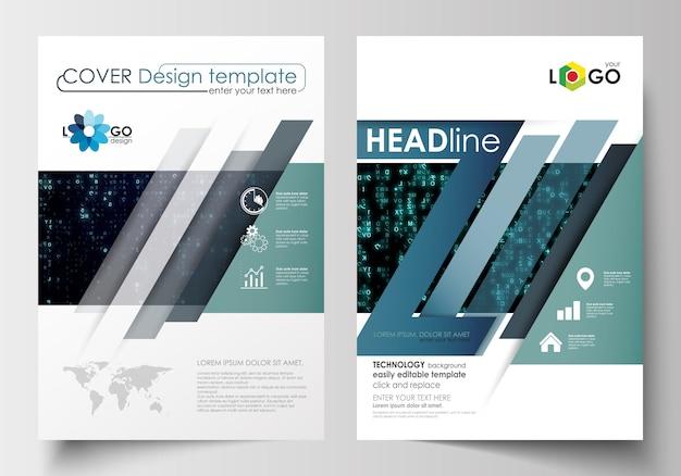 Sjablonen voor brochure, tijdschrift, flyer, boekje.
