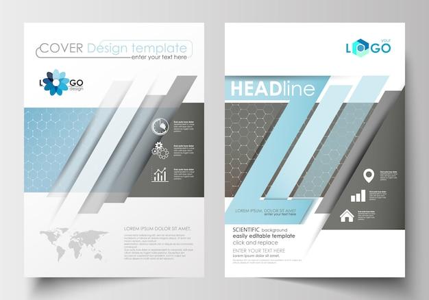 Sjablonen voor brochure, tijdschrift, flyer, boekje