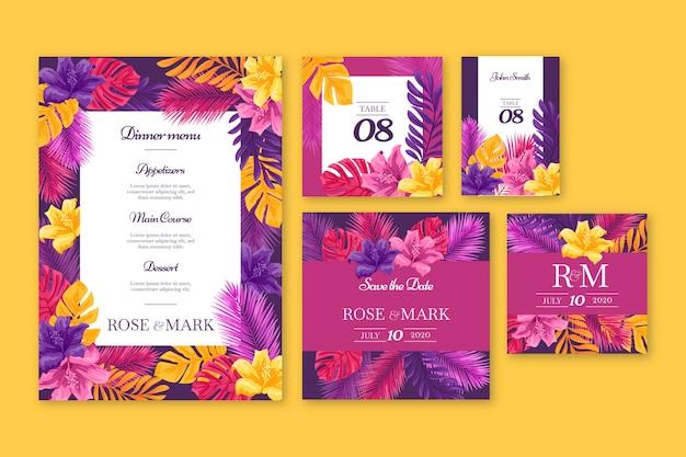 Sjablonen voor bruiloft-briefpapier