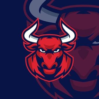 Sjablonen voor bull esports-logo