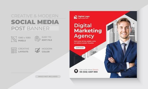 Sjablonen voor posts op sociale media voor digitaal marketingbureau