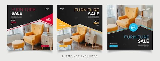 Sjablonen voor posts op sociale media voor meubels