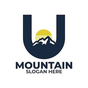 Sjablonen voor u mountain-logo