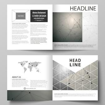 Sjablonen voor vierkante tweevoudige brochure