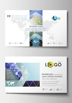 Sjablonen voor visitekaartjes. ontwerpsjabloon cover