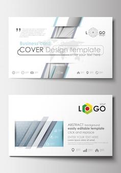 Sjablonen voor visitekaartjes. ontwerpsjabloon cover.