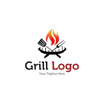 Sjablonen voor warme grill-logo's