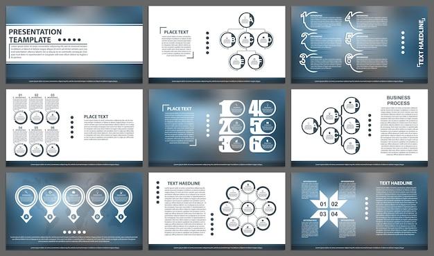 Sjablonen voor zakelijke presentaties moderne elementen van infographic