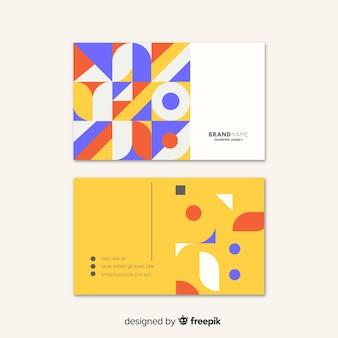 Sjabloon abstract geometrisch visitekaartje