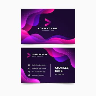 Sjabloon abstract kleurrijk visitekaartje