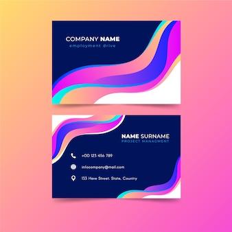 Sjabloon abstract kleurrijke visitekaartjes