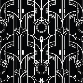 Sjabloon abstract tech lijnenpatroon