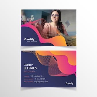 Sjabloon abstract visitekaartje met afbeelding