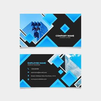 Sjabloon abstract visitekaartje met foto