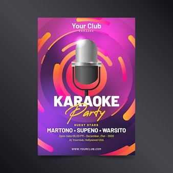 Sjabloon abstracte karaoke poster