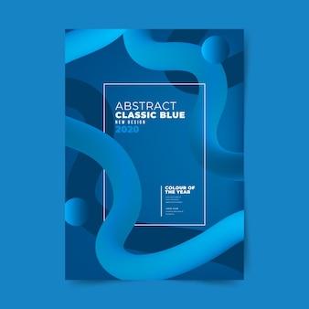Sjabloon abstracte klassieke blauwe flyer