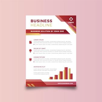 Sjabloon abstracte zakelijke folder