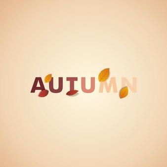 Sjabloon achtergrond herfst