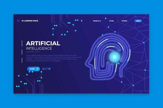 Sjabloon bestemmingspagina kunstmatige intelligentie